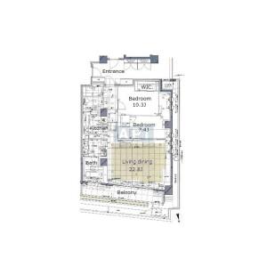 港区西麻布-2LDK公寓大厦 楼层布局