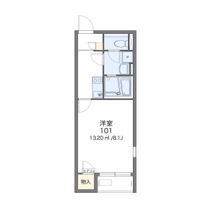 1K Apartment in Ozasa - Fukuoka-shi Chuo-ku Floorplan