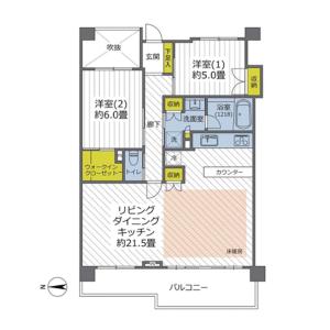 世田谷區深沢-2LDK{building type} 房間格局