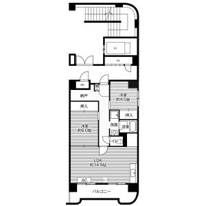 3DK Mansion in Atsubetsunishi 4-jo - Sapporo-shi Atsubetsu-ku Floorplan