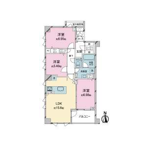 3LDK {building type} in Todoroki - Setagaya-ku Floorplan