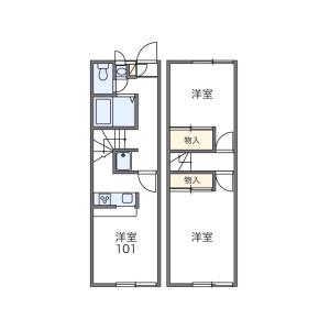 2DK Mansion in Kasahata - Kawagoe-shi Floorplan