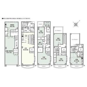 4LDK {building type} in Azabujuban - Minato-ku Floorplan