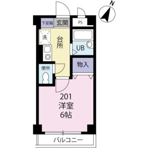 1K Mansion in Mishuku - Setagaya-ku Floorplan