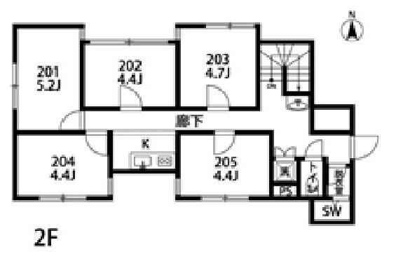 Private Serviced Apartment to Rent in Shinjuku-ku Floorplan