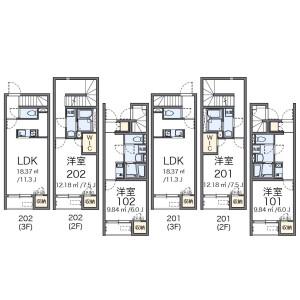 1K Apartment in Takinogawa - Kita-ku Floorplan