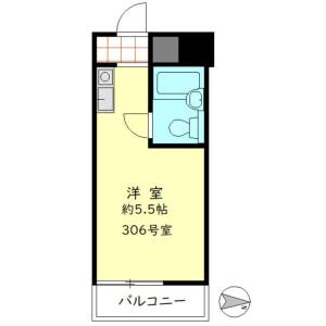 1R Mansion in Shinsencho - Shibuya-ku Floorplan