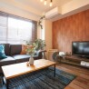 1LDK Apartment to Rent in Taito-ku Living Room