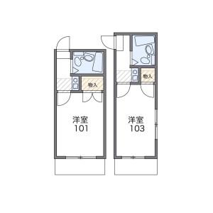 1K Mansion in Midoricho - Kasukabe-shi Floorplan
