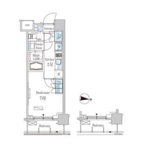 1K Mansion in Horinochi - Suginami-ku Floorplan