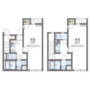 1K Apartment in Nogata - Nakano-ku Floorplan