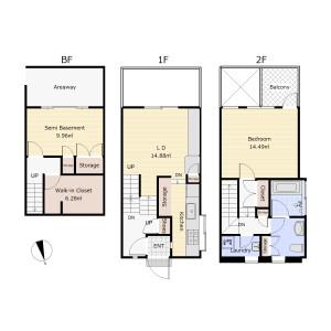 2SLDK Apartment in Funamachi - Shinjuku-ku Floorplan