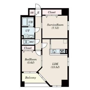 2LDK Mansion in Aoi - Nagoya-shi Higashi-ku Floorplan