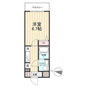 1K Mansion in Nishikameari(3.4-chome) - Katsushika-ku Floorplan