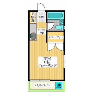 1K Apartment in Daizawa - Setagaya-ku Floorplan