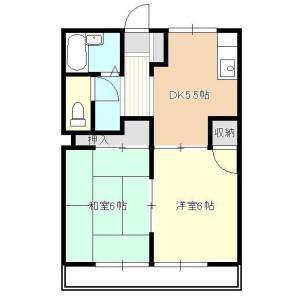 2DK Mansion in Ohanajaya - Katsushika-ku Floorplan