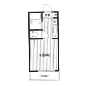 横浜市鶴見区 東寺尾 1R アパート 間取り