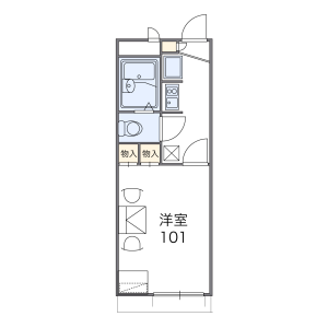 1K Apartment in Nagasonecho - Sakai-shi Kita-ku Floorplan