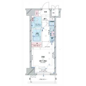 1K {building type} in Kojima - Taito-ku Floorplan