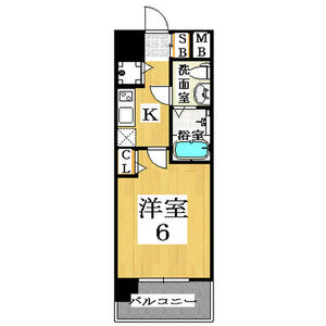 1K Mansion in Inari - Osaka-shi Naniwa-ku Floorplan