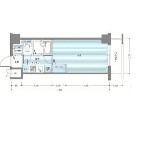 1K Mansion in Yaguchi - Ota-ku Floorplan