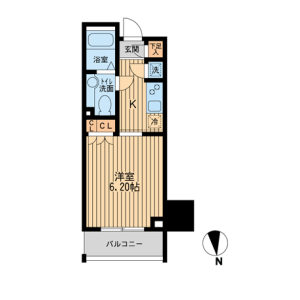 1K Mansion in Okubo - Shinjuku-ku Floorplan
