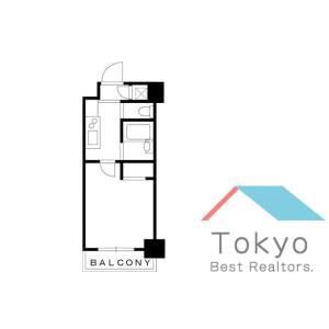 港區芝(1〜3丁目)-1K公寓大廈 房間格局