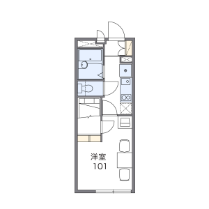1K Mansion in Kosugayacho - Yokohama-shi Sakae-ku Floorplan