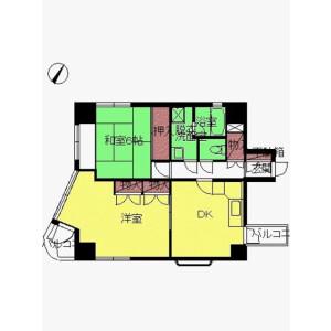 2DK Mansion in Matoba - Kawagoe-shi Floorplan