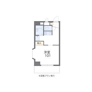 1K Mansion in Meiko - Nagoya-shi Minato-ku Floorplan