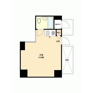 1K {building type} in Minamisemba - Osaka-shi Chuo-ku Floorplan