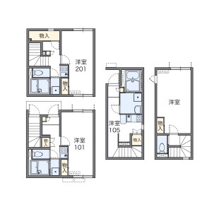 1K Apartment in Nekozane - Urayasu-shi Floorplan