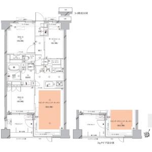 2SLDK Mansion in Kitasenzoku - Ota-ku Floorplan