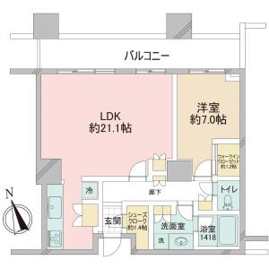 1LDK {building type} in Mita - Minato-ku Floorplan