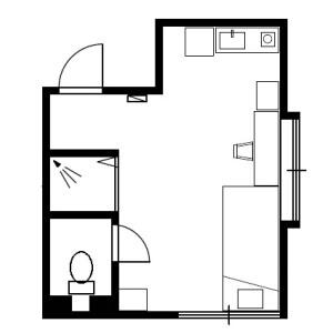 葛饰区青戸-1K公寓 楼层布局