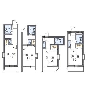1K Mansion in Naka - Fukuoka-shi Hakata-ku Floorplan