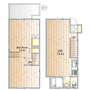 1LDK Apartment in Nakacho - Meguro-ku Floorplan