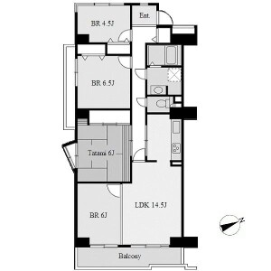 4LDK Apartment in Takikawacho - Nagoya-shi Showa-ku Floorplan