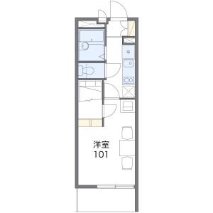 1K Mansion in Asahimachi - Toyohashi-shi Floorplan