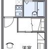 1K Apartment to Rent in Tsushima-shi Floorplan