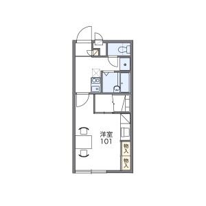 1K Apartment in Miyagawacho - Tsushima-shi Floorplan