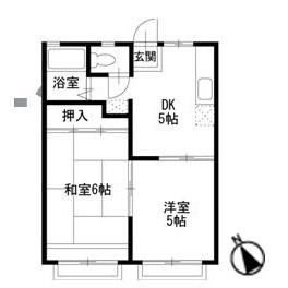 2DK Apartment in Kawai honcho - Yokohama-shi Asahi-ku Floorplan