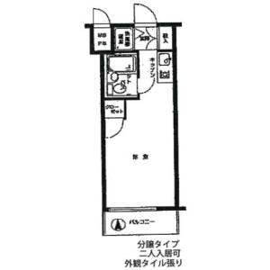 豊島區南長崎-1R公寓大廈 房間格局