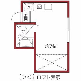 1R Apartment in Higashimotomachi - Kokubunji-shi Floorplan