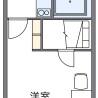 在海老名市內租賃1K 公寓 的房產 房間格局