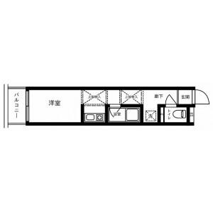 1R Apartment in Shirahata kamicho - Yokohama-shi Kanagawa-ku Floorplan