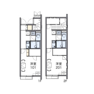 1K Apartment in Jo - Sakura-shi Floorplan