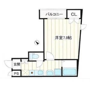 1K Mansion in Tsurumaki - Setagaya-ku Floorplan