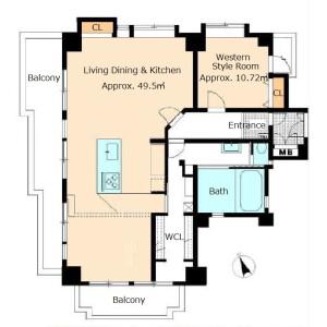 1LDK {building type} in Oe - Otsu-shi Floorplan
