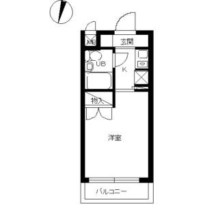 1K Mansion in Heiancho - Yokohama-shi Tsurumi-ku Floorplan